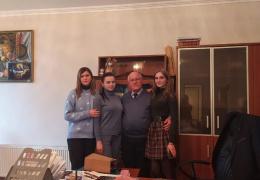 Студентки из Луганска в Национальной библиотеке им. И. Г. Папаскир